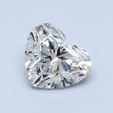 1,02-Carat Heart Diamond Very Good J SI1
