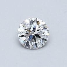 推荐宝石 3:0.54 克拉圆形切割