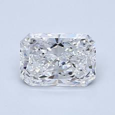 1,01-Carat Radiant Diamond Very Good D VVS2