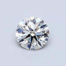 0.62 Carat 圆形 Diamond 理想 G IF