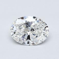 0,71-Carat Oval Diamond Very Good E VS1