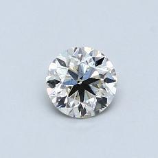 推薦鑽石 #3: 0.48 克拉圓形切割鑽石