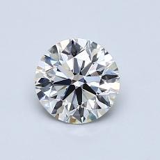 0,75-Carat Round Diamond Ideal H VVS1