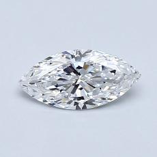 推薦鑽石 #4: 0.51  克拉欖尖形切割鑽石