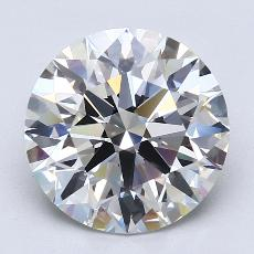 4.01-Carat Round Diamond Ideal H VVS2