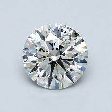 1,00 Carat Rond Diamond Idéale I SI2