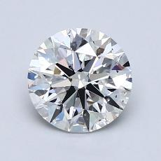 1.30-Carat Round Diamond Ideal E VS2