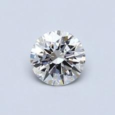 0.54-Carat Round Diamond Ideal H VVS1