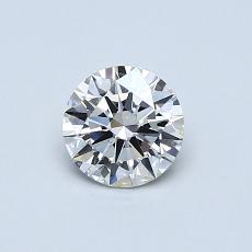 0.50-Carat Round Diamond Ideal F VS2