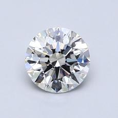 0,80-Carat Round Diamond Ideal E VVS1