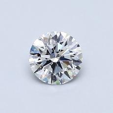 0.51 Carat 圆形 Diamond 理想 F VS1
