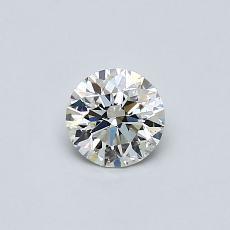 0,40-Carat Round Diamond Ideal K SI1