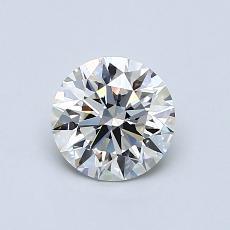 0.75 Carat 圆形 Diamond 理想 I VS1
