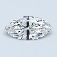 推薦鑽石 #1: 0.53 克拉欖尖形切割