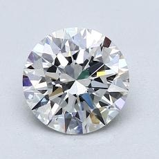 1,50-Carat Round Diamond Ideal E VVS2