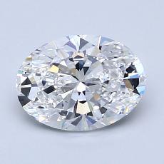 1.50-Carat Oval Diamond Very Good D VS1
