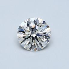0.58-Carat Round Diamond Ideal I VVS1
