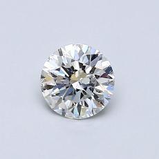 0,50 Carat Rond Diamond Idéale H SI2