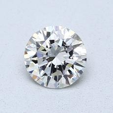 0,70-Carat Round Diamond Ideal H VVS1