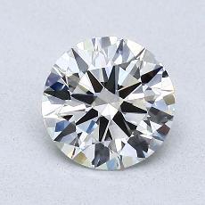 1,00-Carat Round Diamond Ideal G VVS1