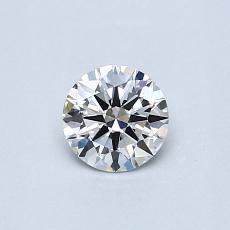 0.40 Carat Redondo Diamond Ideal G VVS2