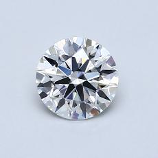 0,65-Carat Round Diamond Ideal E VVS2