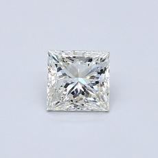 0,51-Carat Princess Diamond Very Good J SI1