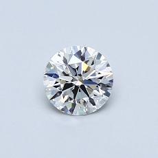 0.40 Carat 圆形 Diamond 理想 F VVS2