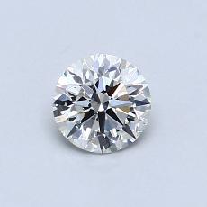 0,54 Carat Rond Diamond Idéale I SI1
