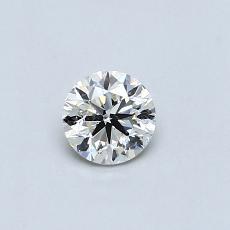 目标宝石:0.35克拉圆形切割钻石