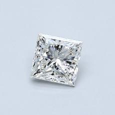 0.50 Carat 公主方形 Diamond 非常好 I SI1