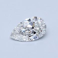 0,50-Carat Pear Diamond Very Good F VS2
