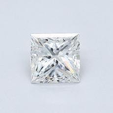0.51 Carat 公主方形 Diamond 非常好 F VVS1
