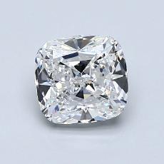 推荐宝石 1:1.12 克拉垫形钻石