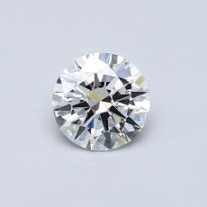 0.51-Carat Round Diamond Ideal D VVS1