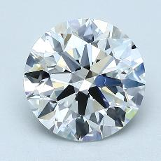 1.92-Carat Round Diamond Ideal F VS1
