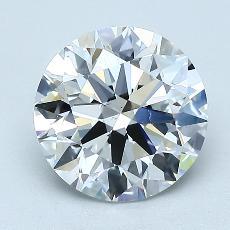 1.92 Carat ラウンド Diamond アイデアル F VS1
