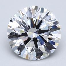 2.01 Carat 圓形 Diamond 理想 E SI2
