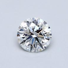 0.61-Carat Round Diamond Ideal F IF