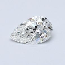0.51-Carat Pear Diamond Very Good E VVS2