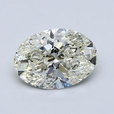 推荐宝石 1:1.03克拉椭圆形切割钻石