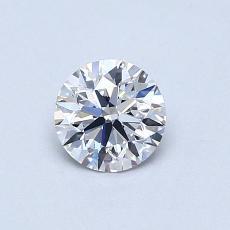 0.50 Carat 圆形 Diamond 理想 D VS2
