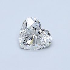 Recommended Stone #1: 0.50-Carat Heart Cut Diamond