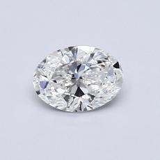 0.50-Carat Oval Diamond Very Good F IF