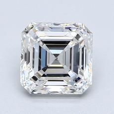 1.51 Carat Asscher Diamond Muy buena F VVS1