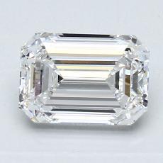 1,54 Carat Émeraude Diamond Très bonne E VVS1