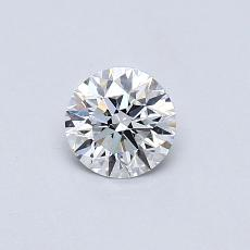 0.42-Carat Round Diamond Ideal E IF