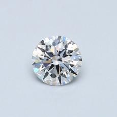0.40 Carat 圆形 Diamond 理想 D VVS1