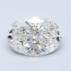 1,61-Carat Oval Diamond Very Good H SI1