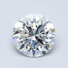1,01 Carat Rond Diamond Idéale F IF